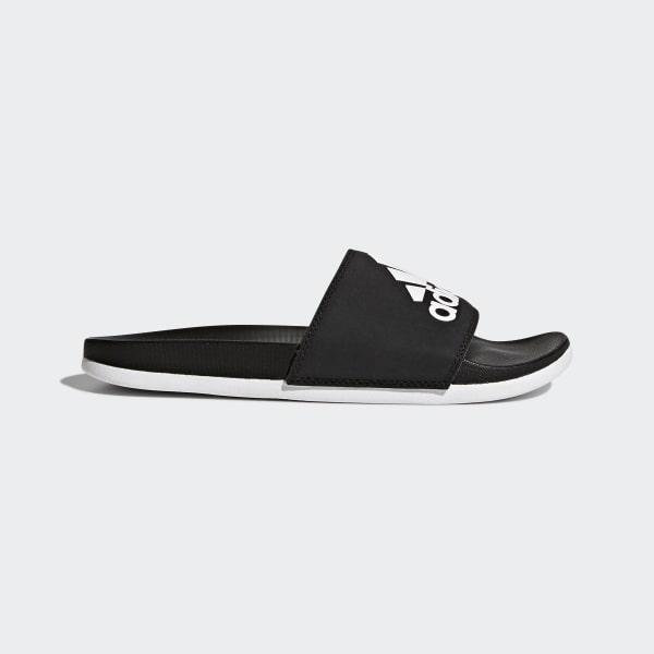 32306d3774ad adidas Adilette Cloudfoam Plus Logo Slides - Black