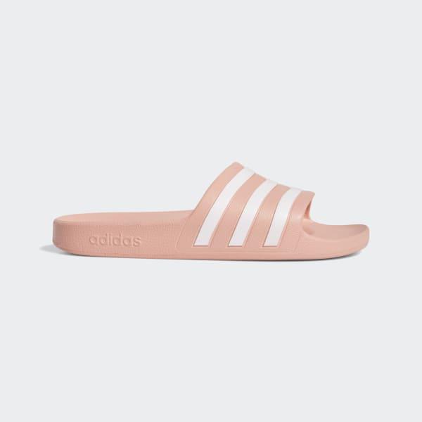 Adilette Aqua wit-roze damesslippers   adidas Nederland