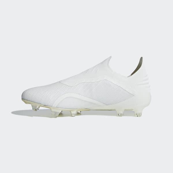 adidas Calzado de Fútbol X 18+ FG - Blanco  c8d9404ed0be2