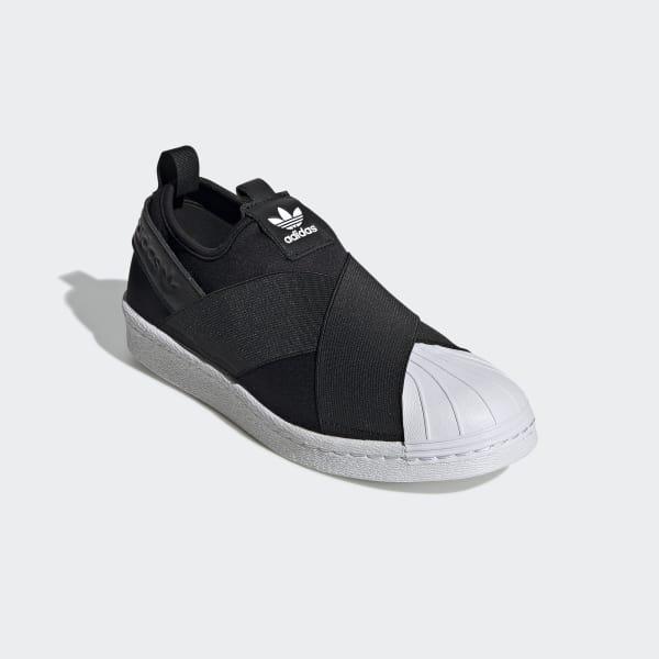 zapatillas adidas negras sin cordones