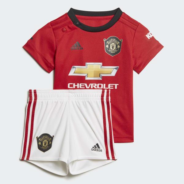 Adidas Manchester United Home Baby Kit Red Adidas Uk