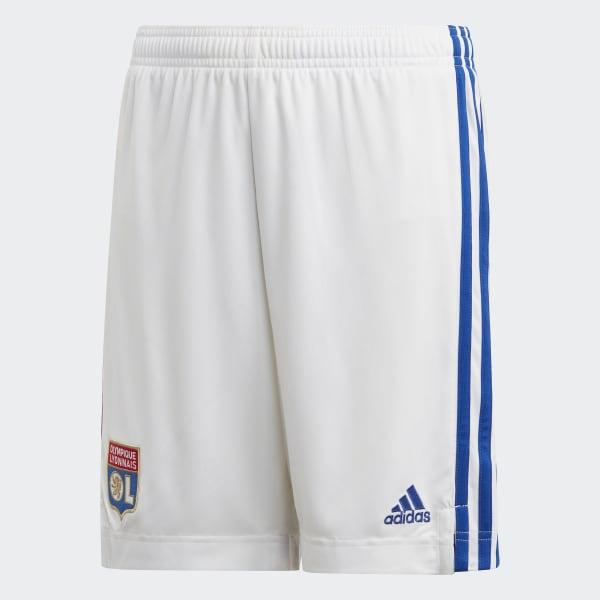 mecanógrafo Marte Anillo duro  adidas Olympique Lyonnais Home Shorts - White | adidas Ireland