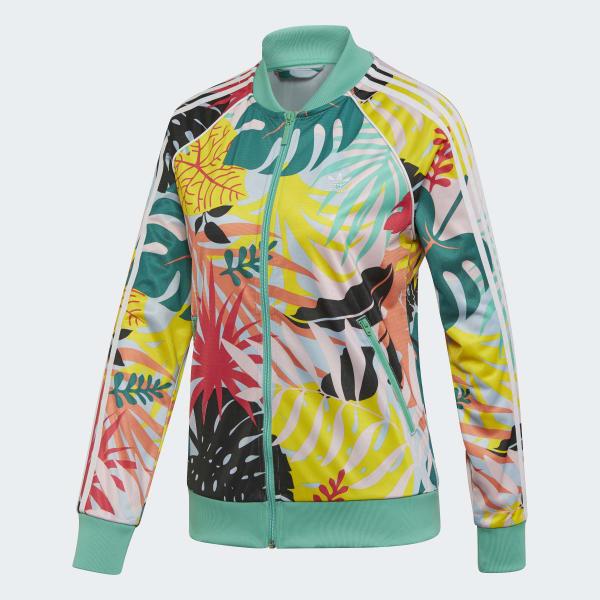 Adidas Originals Veste de survêtement imprimé tropical