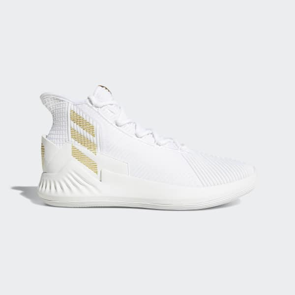 adidas D Rose 9 Shoes - White  0094f9686