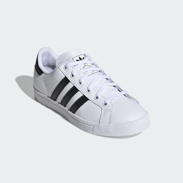 Zapatillas de mujer ADIDAS COAST STAR J de cuero blanco EE9698