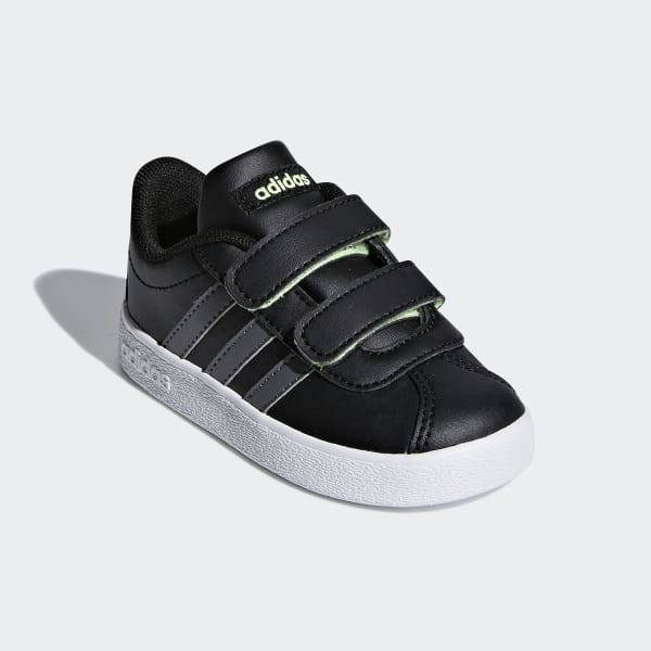 adidas VL Court 2.0 Shoes Kids core black grey five hi res yellow