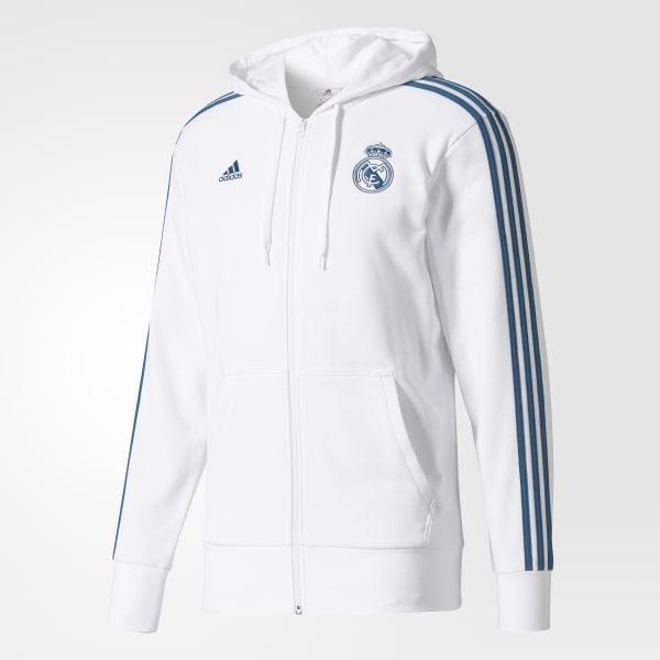 adidas Sudadera Real Madrid 3-Stripes - Blanco  62021693e55e8
