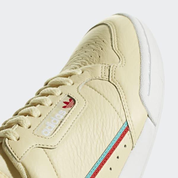 new styles 8786f a004f adidas Sapatos Continental 80 - Amarelo  adidas MLT