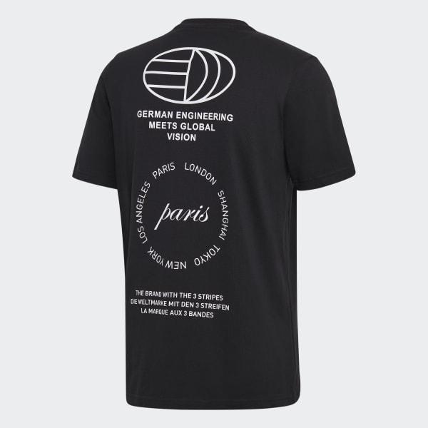 adidas Paris Logo T Shirt Schwarz   adidas Austria