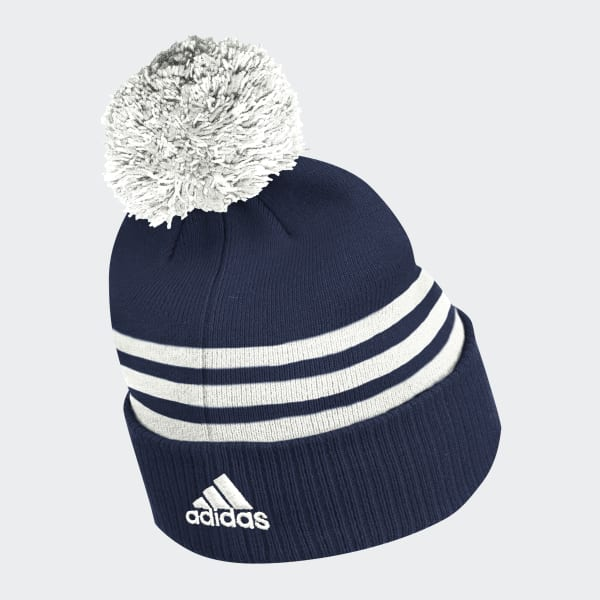 Canada Maple Leaf Embroidered Pom Beanie