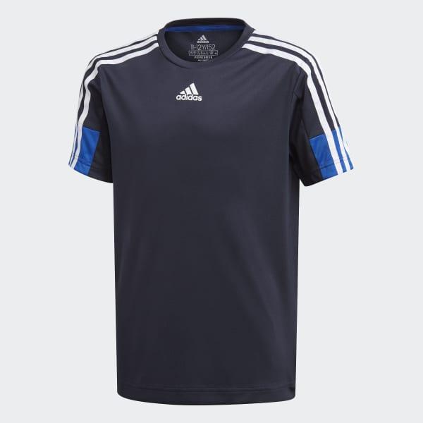 adidas AEROREADY 3 Streifen T Shirt Schwarz | adidas Austria