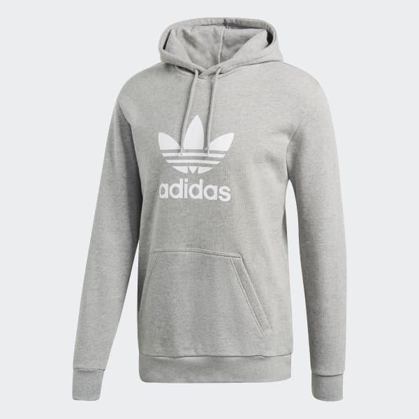 Sweat-shirt à capuche Trefoil - Gris adidas
