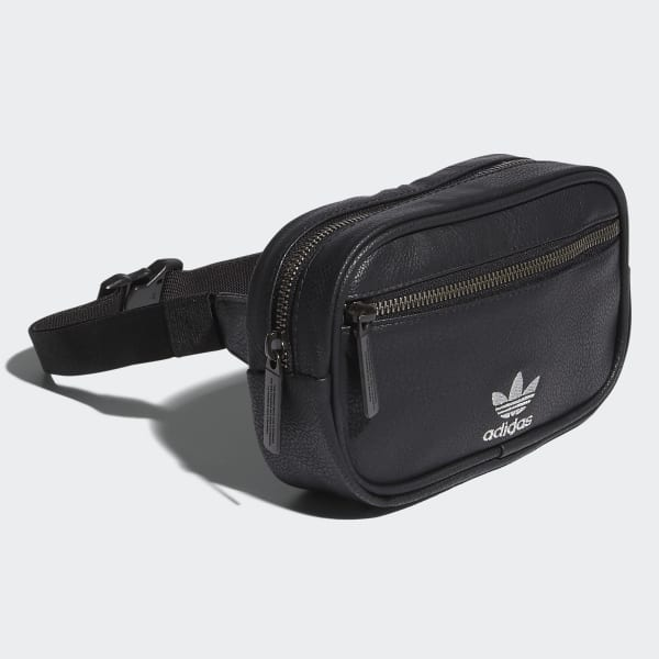 adidas Faux Leather Waist Pack - Black