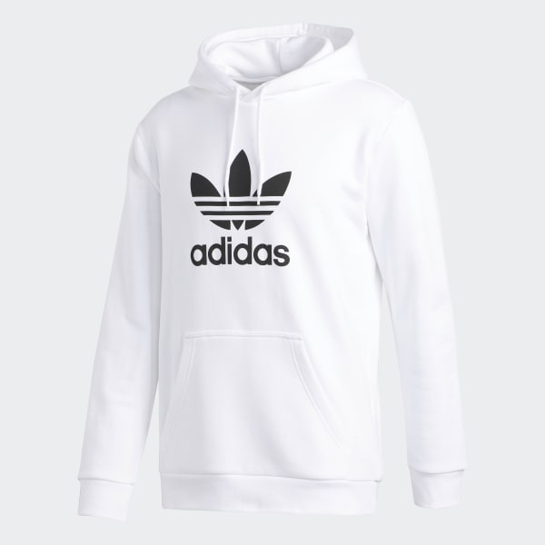 adidas Sweat-shirt à capuche Trefoil - White