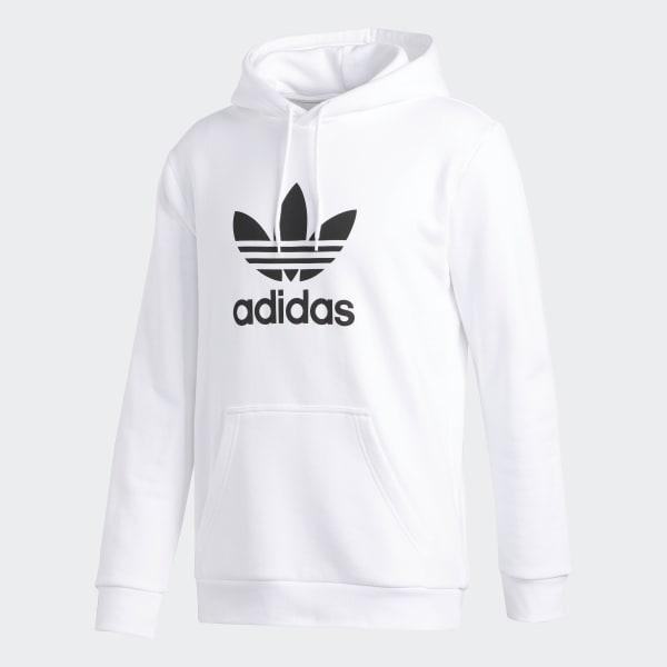 4c06bb35913ef adidas Trefoil Hoodie - White | adidas US