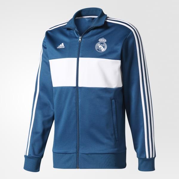 Jaqueta 3S Real Madrid - Azul adidas  1f0e0440e0f45