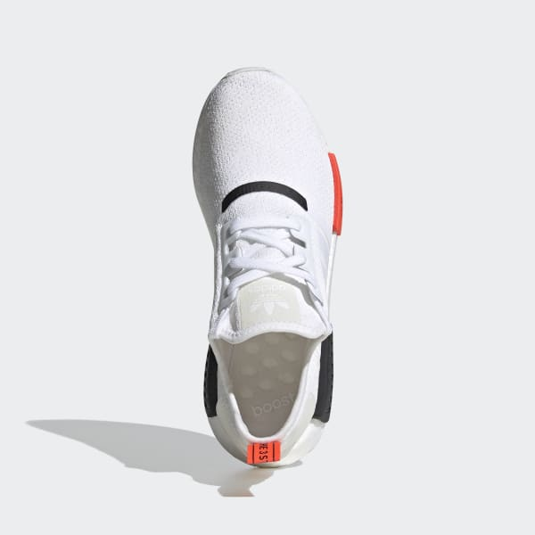 Men S Nmd R1 Cloud White And Red Shoes Adidas Us