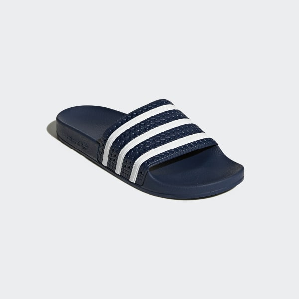 new concept 480c0 119ed adidas adilette Slides - Blue   adidas UK