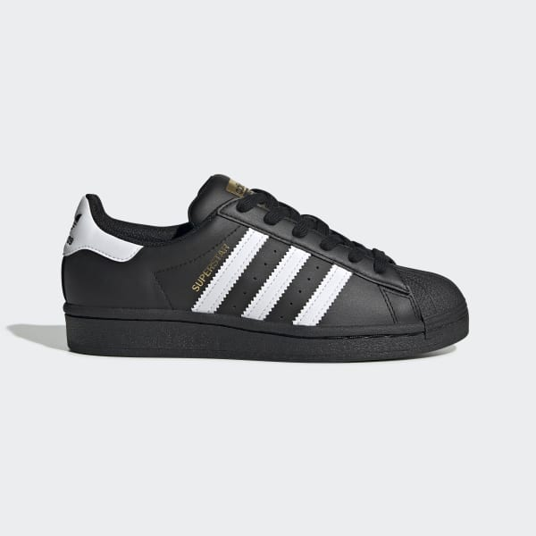 adidas superstar junior black and white size 4