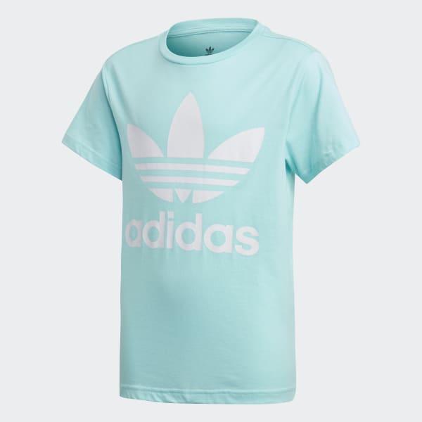 ADIDAS ORIGINALS T Shirt aus Baumwolle in Blau Türkis