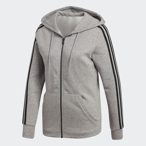 adidas 3-Stripes Hoodie - Grey   adidas US