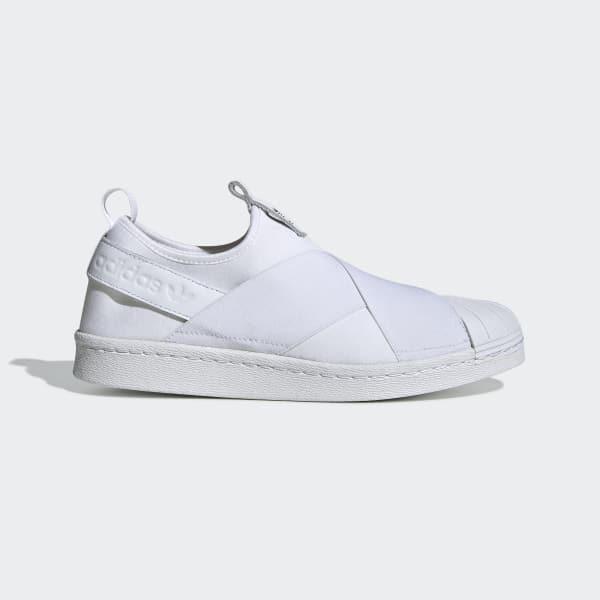 e25c79d9d67 Tênis Superstar Slip On Feminino - Branco adidas