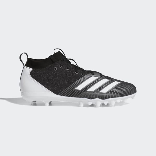 white and black adidas cleats