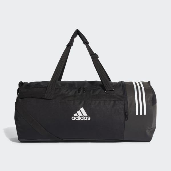 adidas Convertible 3-Stripes Duffel Bag Large - Black  bc8424ad301ce