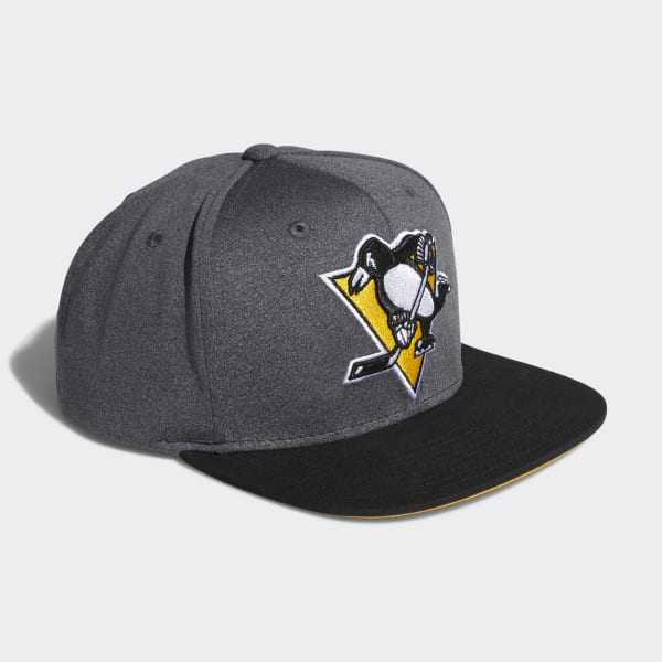 Penguins Snapback Heathered Grey Hat