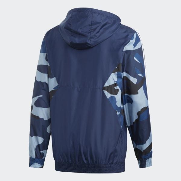 Veste impermeable Adidas Originals camouflagebleu.