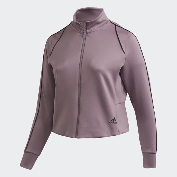 adidas Style Treningsjakke (store størrelser) Lilla