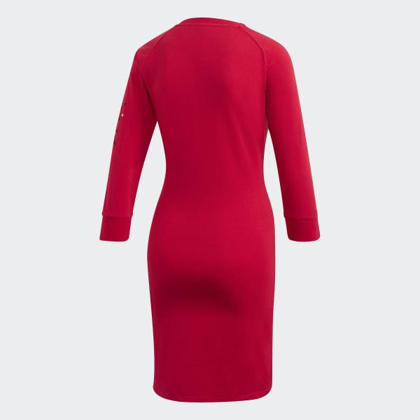 adidas 3-Streifen Kleid - Rot   adidas Deutschland