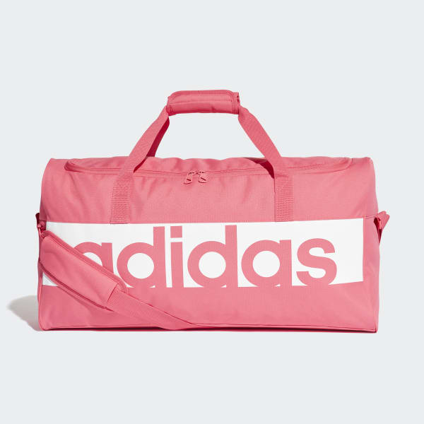 adidas Linear Performance Duffel Bag Medium - Pink  8b459c2b8cccd