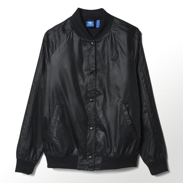 ADIDAS Women's COLLEGE JACKET (AY6593) White w Black (Size