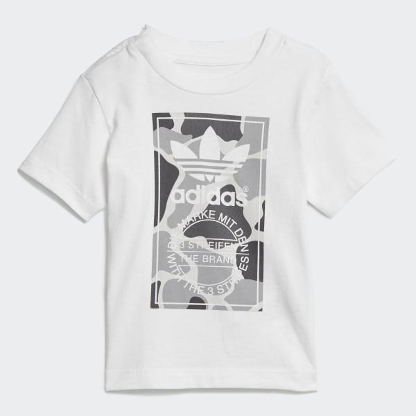 Conjunto Shorts e Camiseta Camo Trefoil