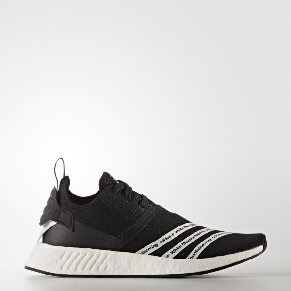 e0b30cd8a0368 White Mountaineering NMD R2 Shoes Core Black   Cloud White   Cloud White  BB2978