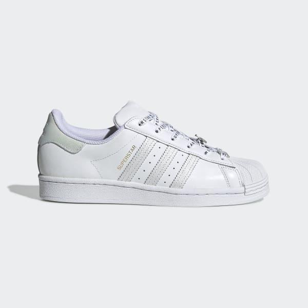 Superstar witte damesschoenen met kanten details | adidas