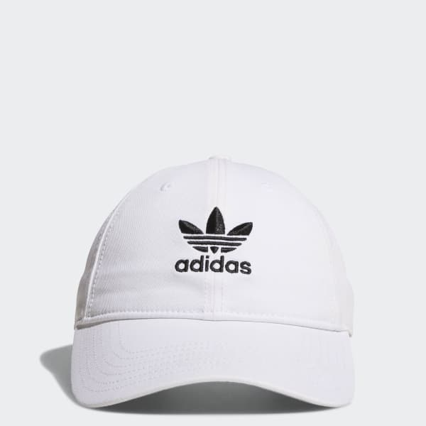adidas Originals Relaxed Strap-Back Hat - White  8f20c7e0361