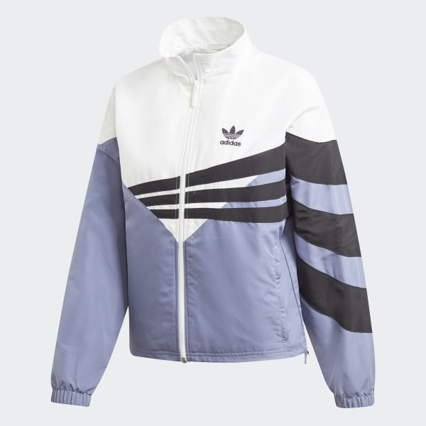 Adidas Women Track Jacket Raw Indigo White Originals