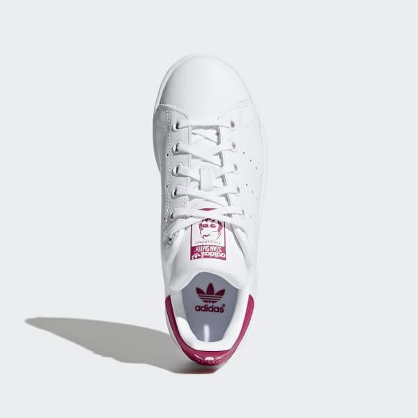 adidas donna stan smith bianche linguetta rosa
