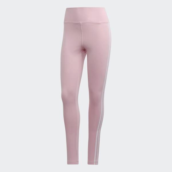 3ac916d3a0 Calça Legging de Cintura Alta Design 2 Move Três Listras - Rosa adidas