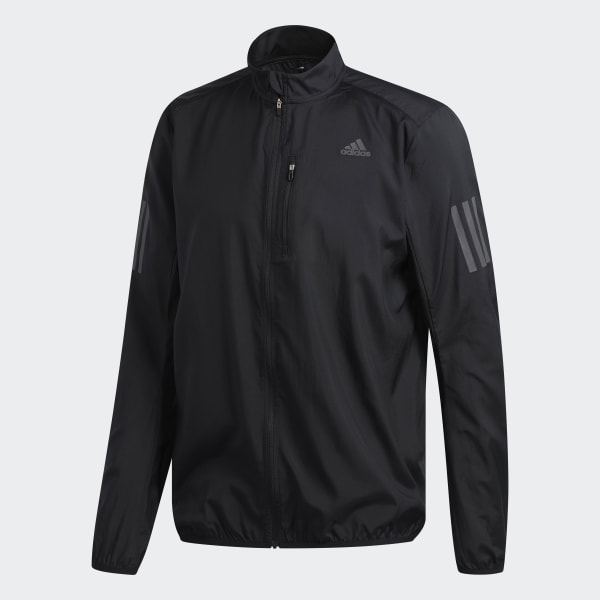 riñones Casa de la carretera dentro de poco  adidas Own the Run Jacket - Black | adidas UK