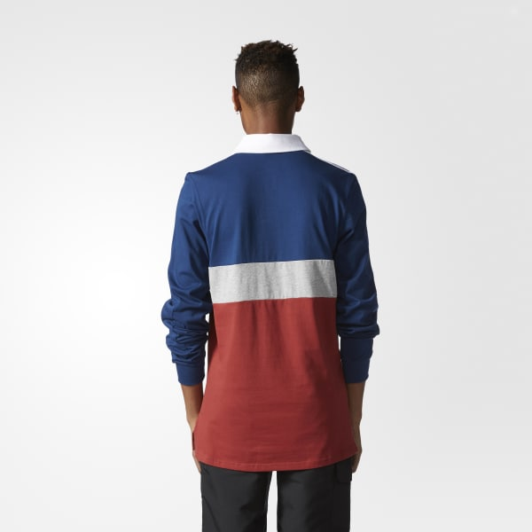 7b9814125f8 adidas Rugby Nautical Polo Shirt - Red | adidas US