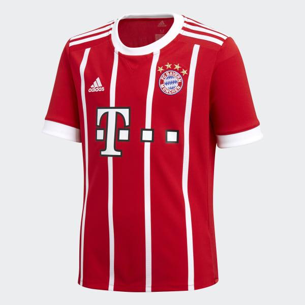 31892ee87cd6e adidas Camiseta de Local FC Bayern Múnich - Rojo