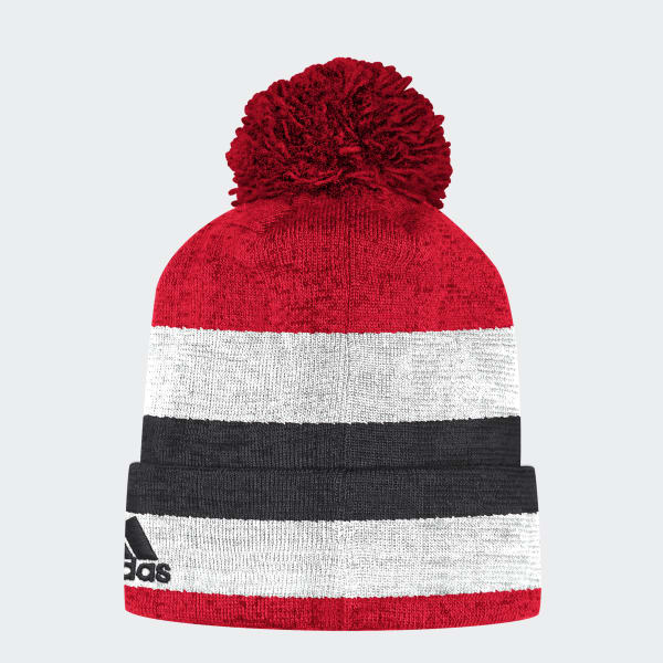 Blackhawks Team Cuffed Pom Beanie