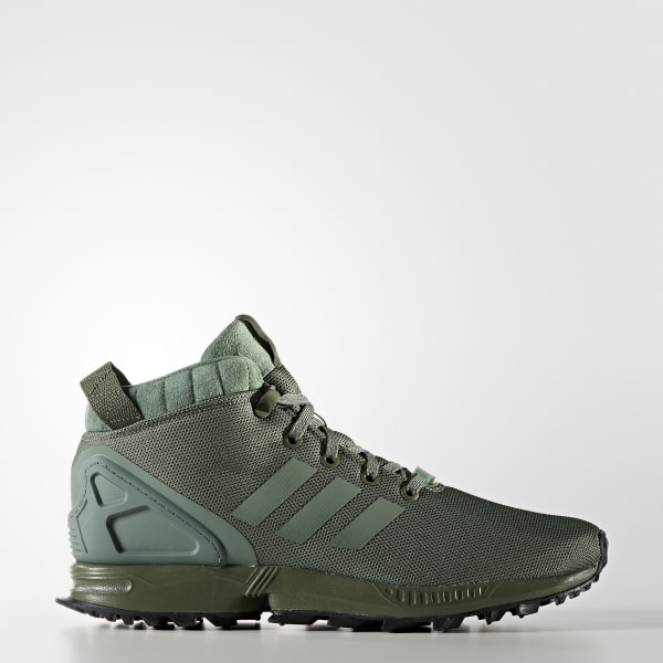 reputable site 33526 a122f ZX Flux 5 8 TR Shoes Major Trace Green Core Black BY9434