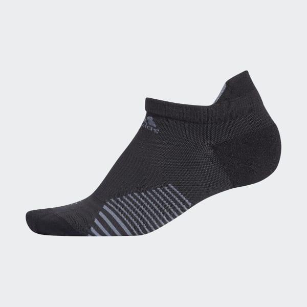 adidas Run Tabbed No-Show Socks - Black