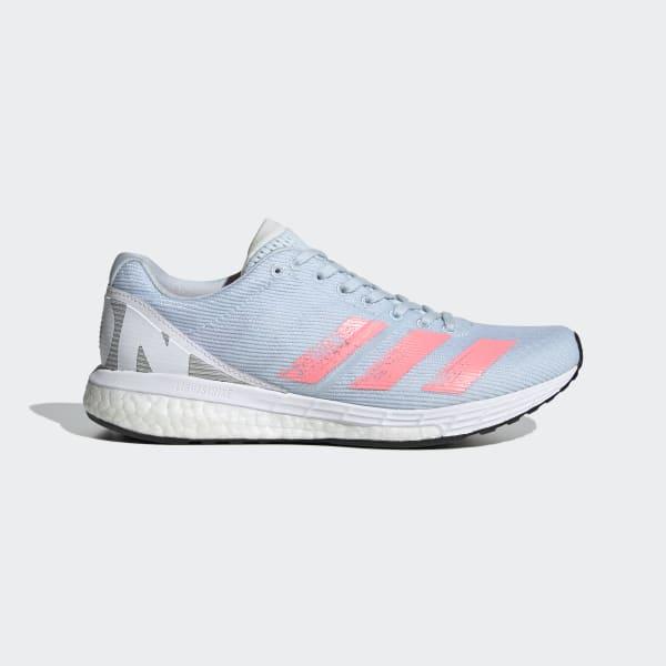 adidas Adizero Boston 8 Sko Damer, signal coralsilver metalfootwear white