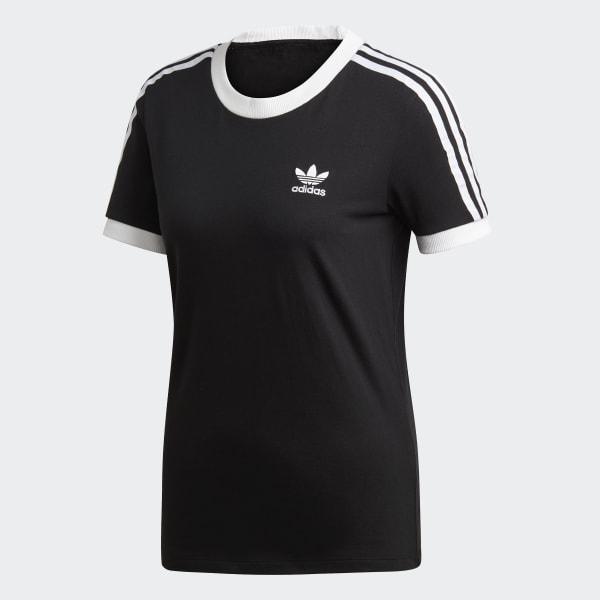 T shirt 3 Stripes Noir adidas   adidas France