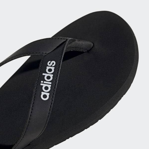 black and white adidas flip flops